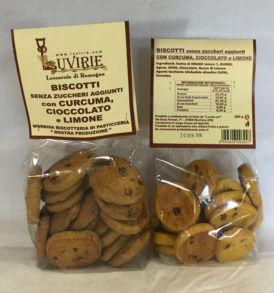 Biscotti Curcuma Cioccolato e Limone, Luvirie Romagna