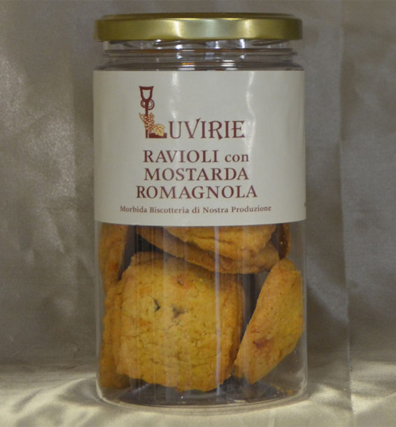 Biscotti con Mostarda Romagnola, Mele Cotogne, Luvirie
