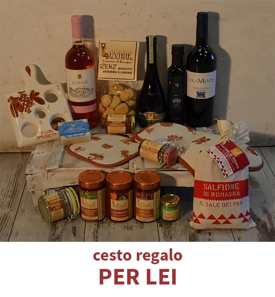 Cesto idea regalo per lei prodotti tipici romagnoli luvirie for Idea per regalo