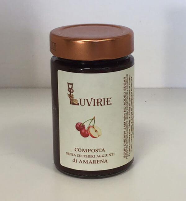 Composta di Amarene senza zucchero, Luvirie Romagna
