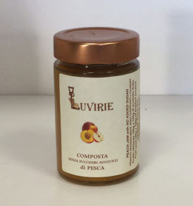Composta di Pesche senza zucchero, Luvirie Romagna