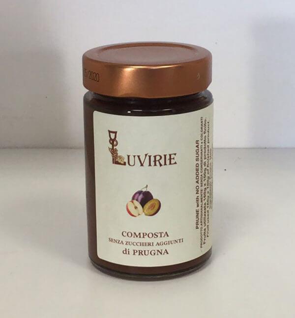 Composta di Prugne senza zucchero, Luvirie Romagna
