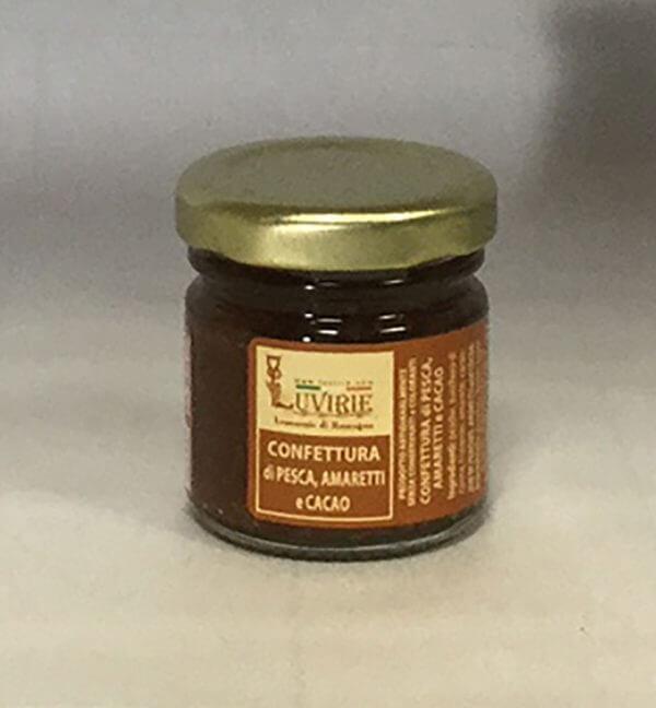Confettura Pesche Amaretti e Cacao, Luvirie Romagna