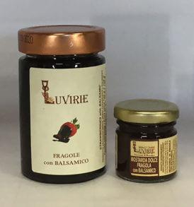Fragole Caramellate e Aceto Balsamico, Luvirie Romagna