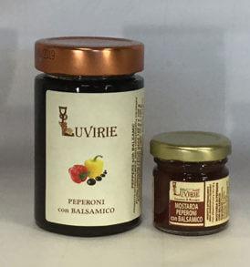 Peperoni Caramellati e Aceto Balsamico, Luvirie Romagna