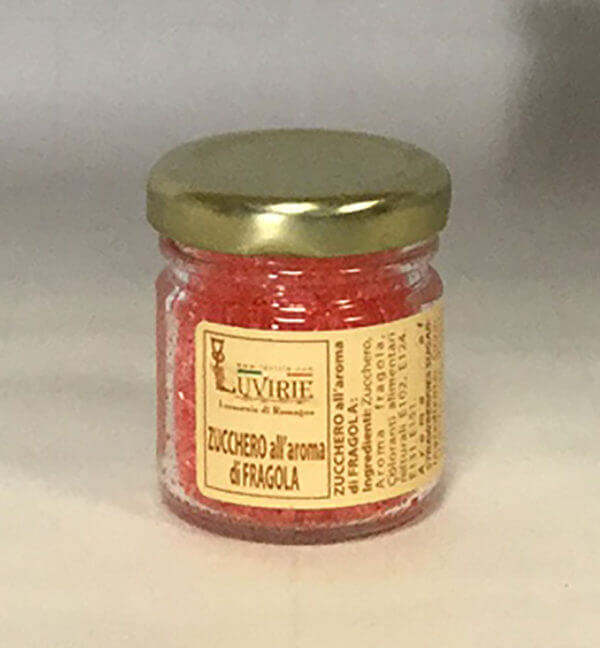 Zucchero Aromatizzato alla Fragola, Luvirie Romagna